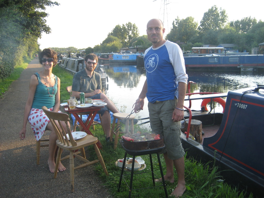 party on the narrowboat